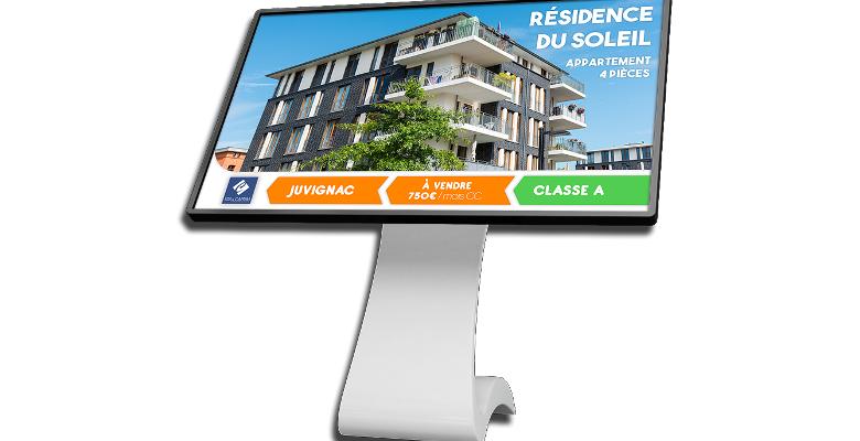 Quel écran d'affichage dynamique pour une agence immobilière ?